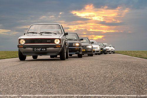 Volkswagen Golf GTI generaties van Sytse Dijkstra