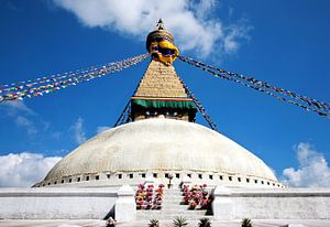 Stupa Bodhnath in Kathmandu Nepal van