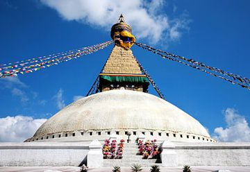 Stupa Bodhnath in Kathmandu Nepal van Jan van Reij