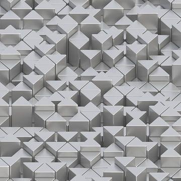 Prisms light gray van Jörg Hausmann