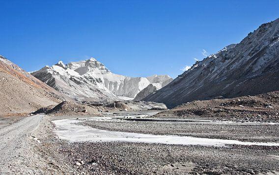 Op weg naar Mount Everest Tibet van Jan van Reij