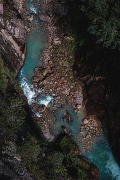 Draufsicht auf den Fluss von Isa V