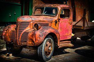 Vieille camionnette rouge Toronto