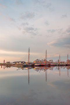 Reflectie haven Stavoren sur Harrie Muis