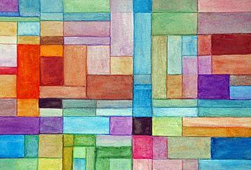 Abstrakter Eindruck von Zwiebelfeldern. von Ineke de Rijk