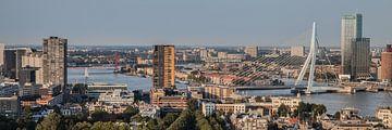 Rotterdam Skyline (kleur) van John Ouwens