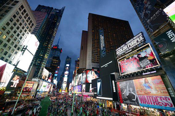Times Square in New York in de avond