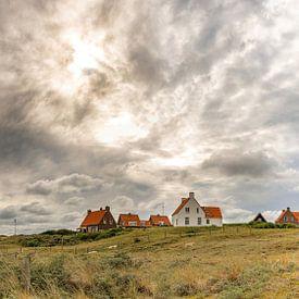 Texel - Vuurtoren Eierland - Zonsondergang van Texel360Fotografie Richard Heerschap