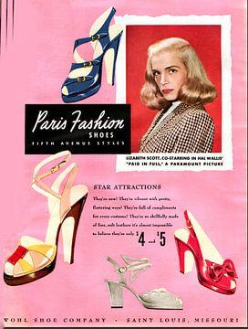 Schuhwerbung von 1950 von Atelier Liesjes