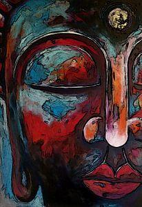 Buddha - Original by Michael Ladenthin - German Painter van
