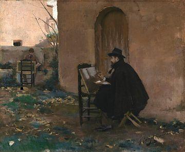 Sich gegenseitig malen, Santiago Rusiñol, Ramon Casas i Carbó