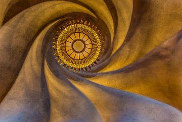 Plafond van Gaudi in Barcelona, Casa Batlló van Maarten Hoek