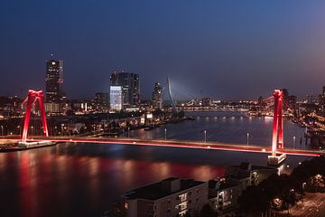 Willemsbrug & Erasmusbrug, Rotterdam van Joey van Embden