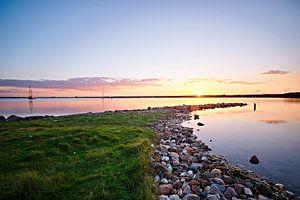 Zonsondergang aan het Grevelingemeer