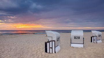 Deutsche Strandkörbe, Usedom, Deutschland von Adelheid Smitt