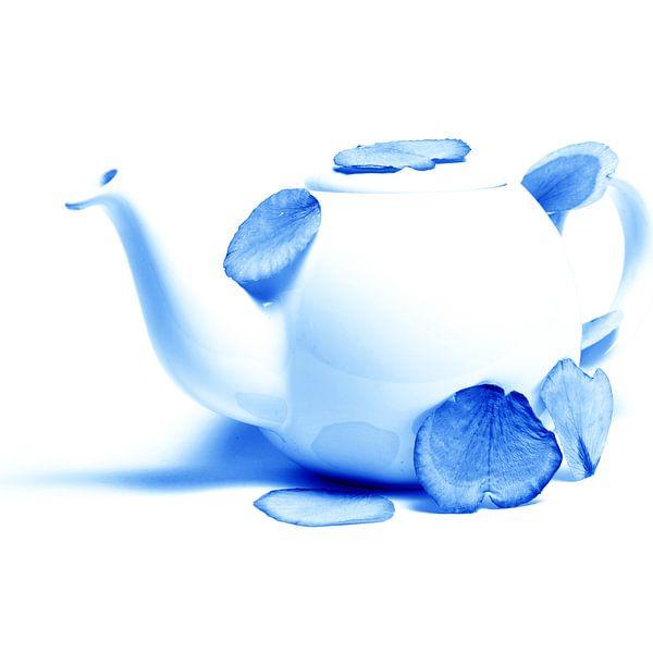 Delftsblauwe Bloemen - Theepot 22 van Mariska van Vondelen