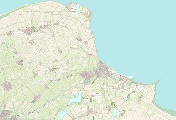 Kaart van Eemsdelta