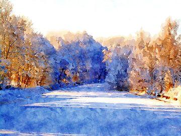 An einem sonnigen Wintertag von Andreas Wemmje