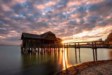 Sonnenuntergang bei Stegen am Ammersee von Thomas Rieger