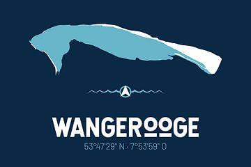 Wangerooge | Design kaart | Silhouet | Minimalistische kaart van ViaMapia