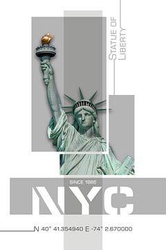 Poster Art NYC Freiheitsstatue von Melanie Viola