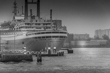 SS Rotterdam in Schwarz-Weiß von Annemarie van der Hilst