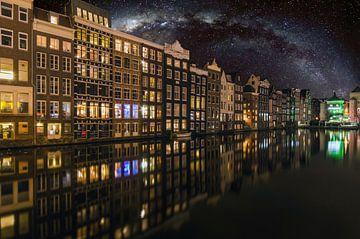 Damrak Amsterdam van Sidney Portier