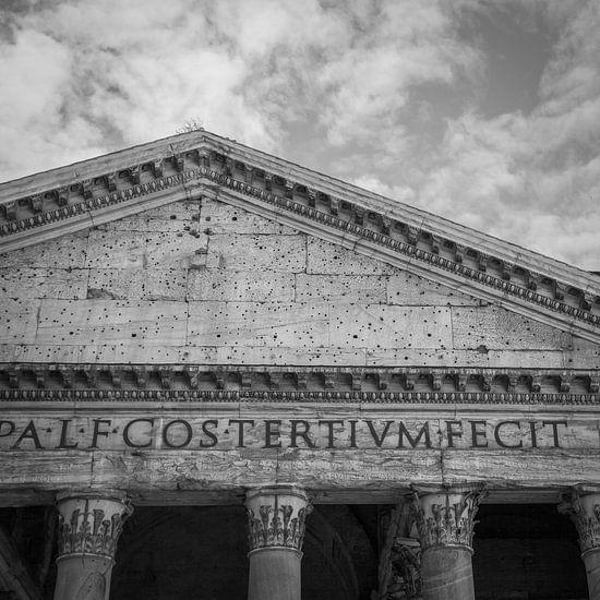 Italië in vierkant zwart wit, Rome, Pantheon