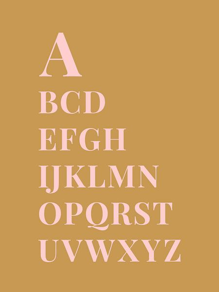 Alfabet, A tot Z van MarcoZoutmanDesign