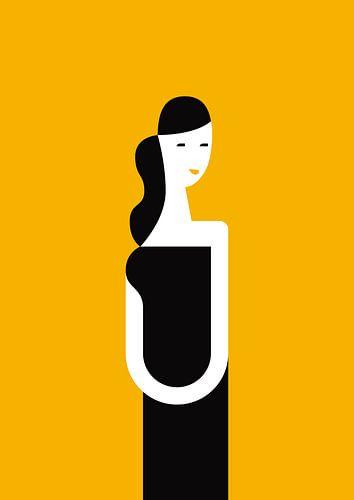 A dress and a smile (yellow) van Rene Hamann