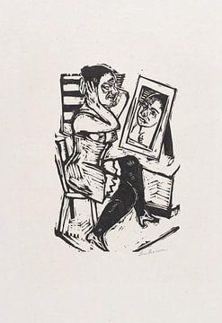 Toilette (Vorm Spiegel), MAX BECKMANN, 1923 von Atelier Liesjes