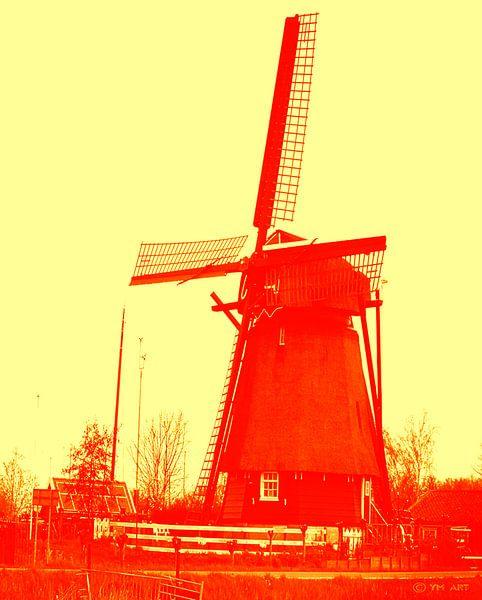 Haarlemse Molen - Rood Geel van Yvon van der Wijk