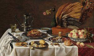 Stillleben mit Pfau von Pieter Claesz