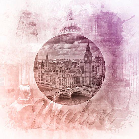 Graphic Art LONDON SIGHTSEEING  van Melanie Viola