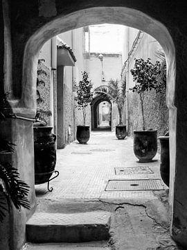 Blick durch das Zentrum von Marrakech, Marokko von Evelien Oerlemans