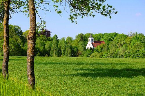 A Small Village Church in the Lunenburg Heath van Gisela Scheffbuch