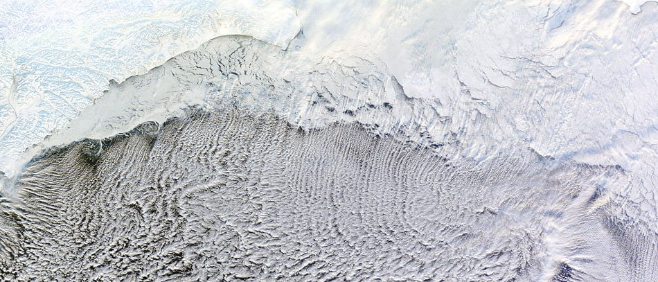 Wolkenstraten over de Beringzee van Digital Universe