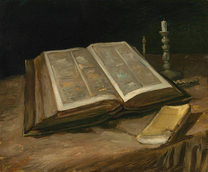 Stillleben mit Bibel, Vincent van Gogh von Meesterlijcke Meesters