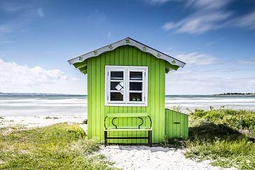 Badehäuschen auf Aerö von Matthias Nolde