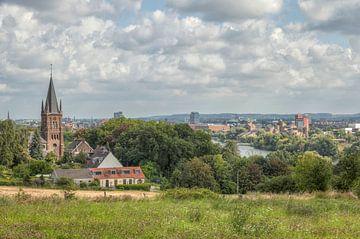 Uitzicht vanaf Sint-Pieterberg over Maastricht van