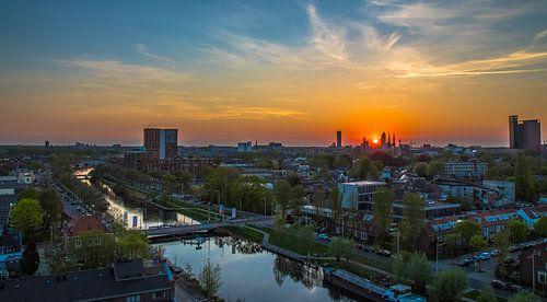 Tilburg gezien vanaf de Piushaven  van