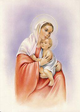 Maria en jezus van Patrick Hoenderkamp