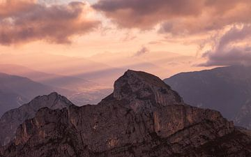 Alpes coucher de soleil sur Frank Peters