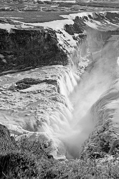 Waterval Gullfoss van Anton de Zeeuw