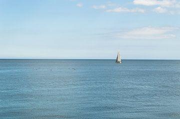 Zeilboot Op Zee van Melvin Fotografie