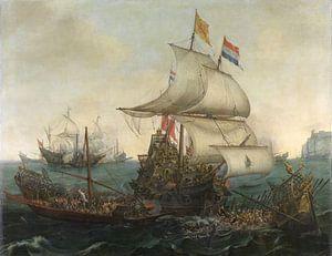 Holländische Schiffe rammen die spanischen Galeeren 1617 - Hendrik Cornelisz
