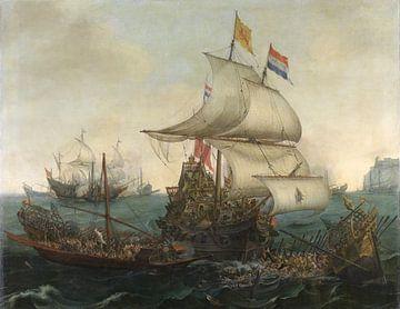 Noord-Nederlandse schepen rammen Spaanse galeien 1617 sur Hollandse Meesters
