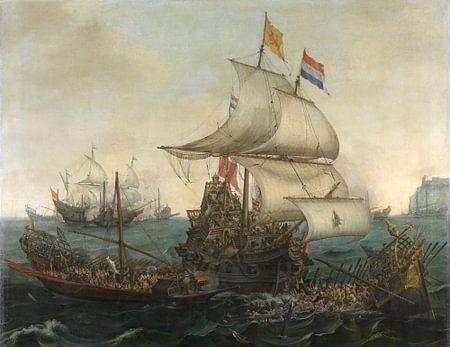 Noord-Nederlandse schepen rammen Spaanse galeien 1617