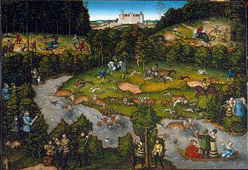 Jagd bei Schloss Hartenfels, Lucas Cranach von De Canon