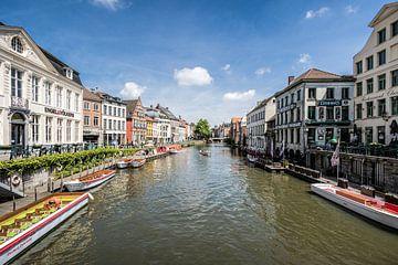 De Leie in Gent van Bruno Hermans